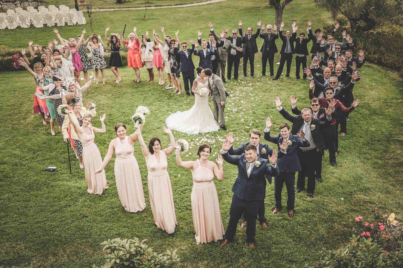 Garden villa wedding Italy. Artistic heart shape photo in the garden of Villa Baroncino.