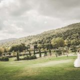 Garden villa wedding Italy. Artistic photos of the wedding couple on the wedding day.