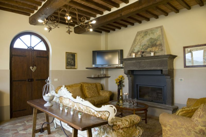 Part of the living area in Villa Adele where the wedding suite is. italy wedding venues. tuscany wedding villas