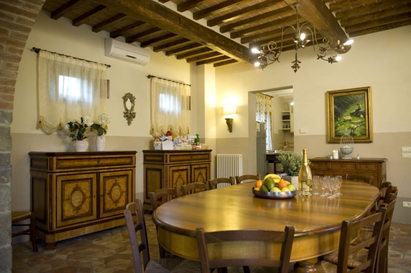 Part of communal area and dining area in Villa Adele where the wedding suite is. italy wedding venues. tuscany wedding villas