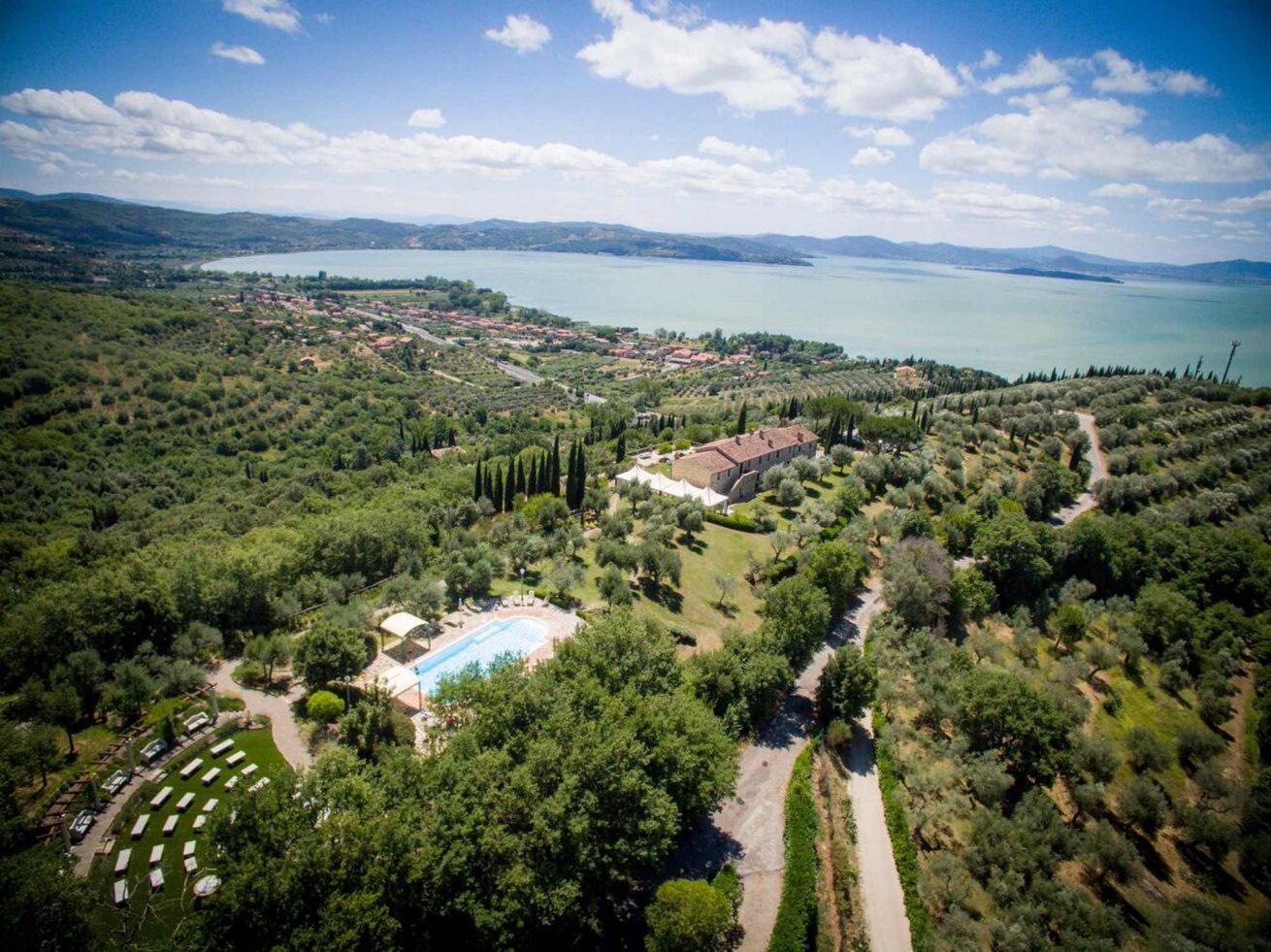 Amazing View of the pool area at Villa San Crispolto