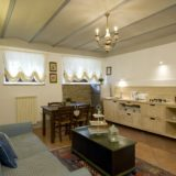 Weddings tuscany villa.The kitchen area in Suite Villa 6.