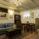 Weddings tuscany villa. A detail of the living and kitchen area in Suite Villa 6.