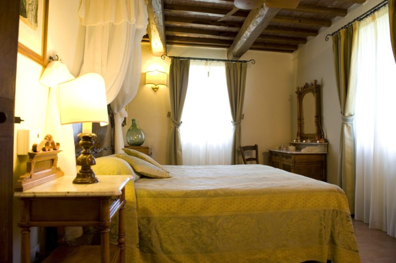 Wedding tuscany villa . One of the bedrooms of Suite Villa 3.
