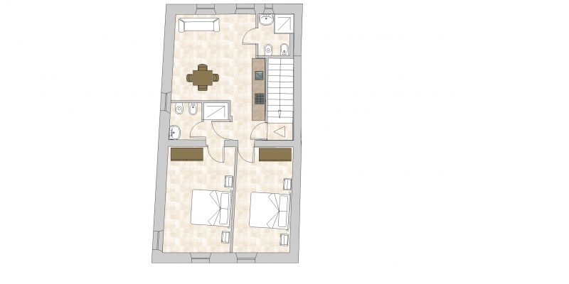 Villa-4 Floor Plan. Italy weddings villas.