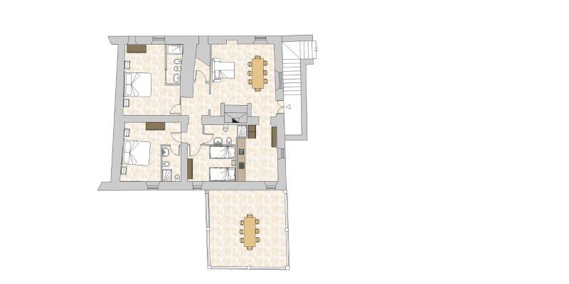 villa 1-Floor Plan. villa Wedding Italy
