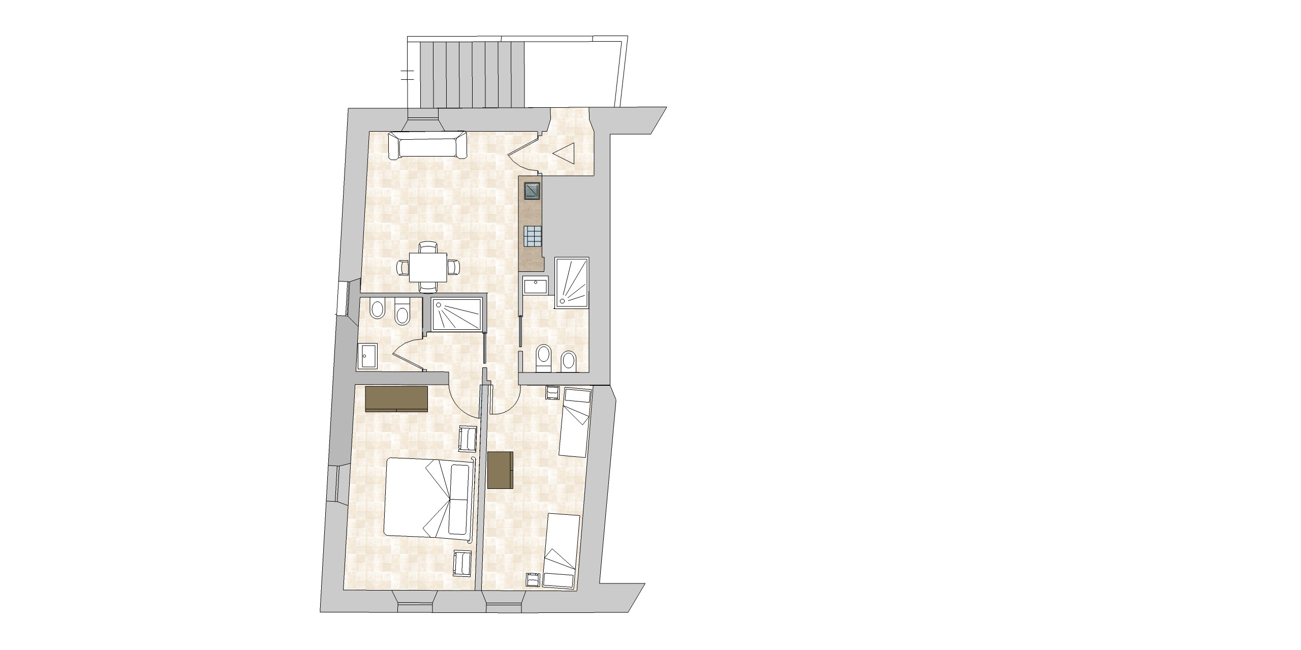 Wedding tuscany villa suite villa 3 baroncino charming for Italian villa floor plans