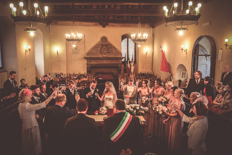 Tuscany Wedding - Cortona Town Hall 17