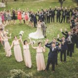 Garden villa wedding Italy. Artistic heart shape photo in the garden of Villa Baroncino.
