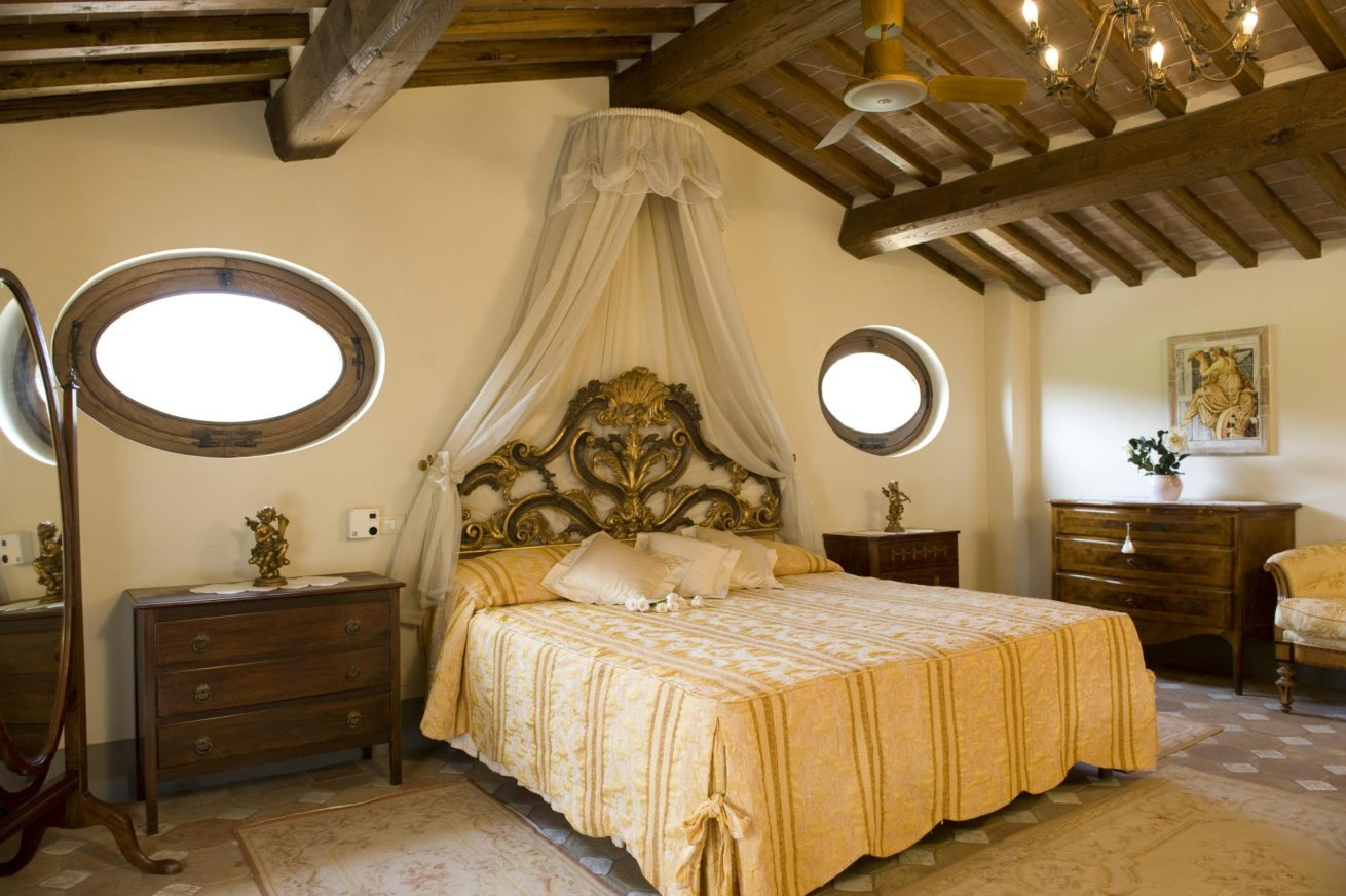 The Master bedroom in the Wedding Suite. italy wedding venues. italy destination wedding packages