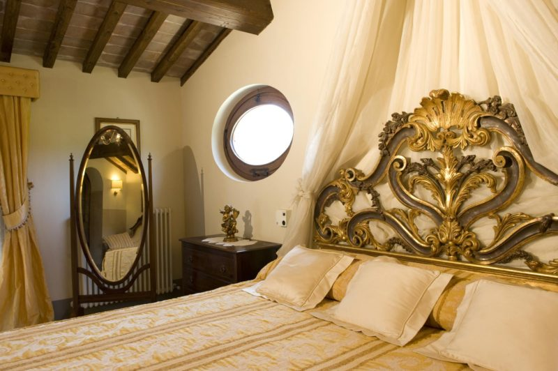 italy wedding venues. Detail of the headboard in the Wedding Suite.