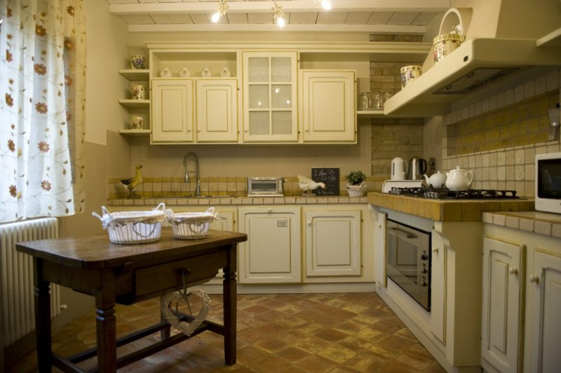 The kitchen area in Villa Adele where the wedding suite is. italy wedding venues. tuscany wedding villas