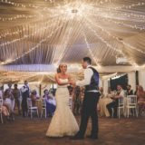 Marquee Wedding Ideas. Bride and groom first dance.