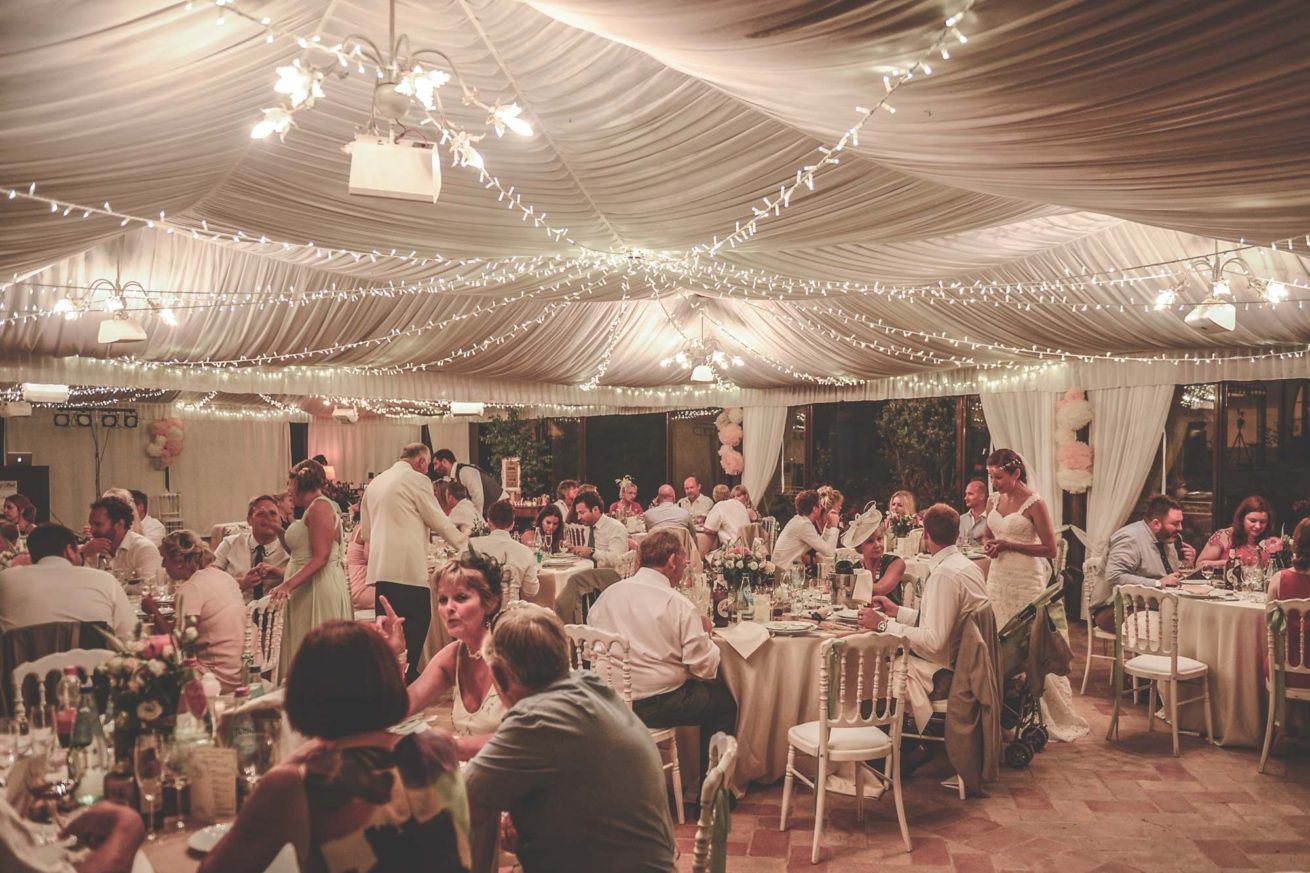 Marquee Wedding Ideas. Marquee during reception.
