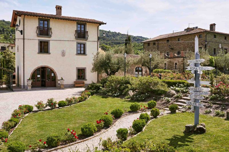 The facade of Villa Adele, Exclusive weddings villa Italy Baroncino