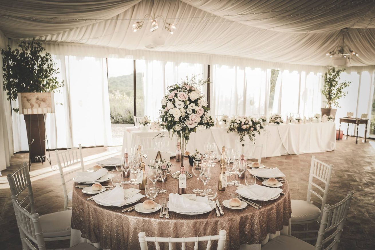 Outdoor Wedding Villa Italy. The marquee can reflect different themes as per each brides taste