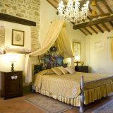 The Master bedroom in the wedding suite of Villa san Crispolto