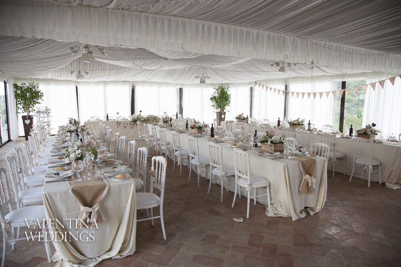 Destination Weddings Italy, Marquee Wedding Ideas. The marquee can reflect different themes as per each bride's taste.