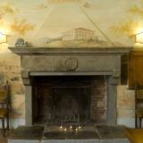 Villa wedding Italy. The original 16th century antique fireplace in Suite Villa 1.