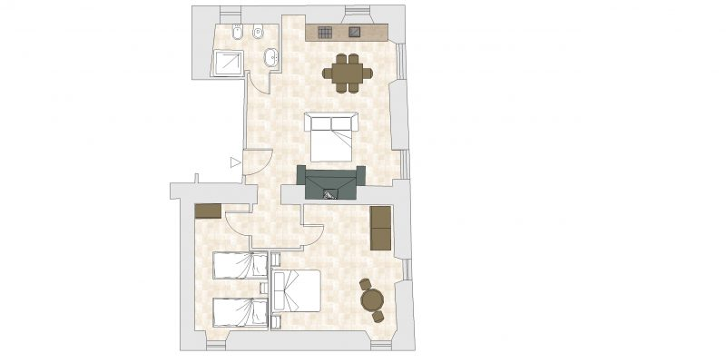 Villa-8 Floor Plan. wedding apartment villas.