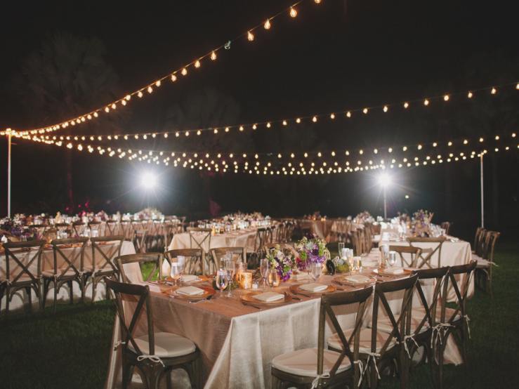 Italy Wedding Outdoor Reception Decorations
